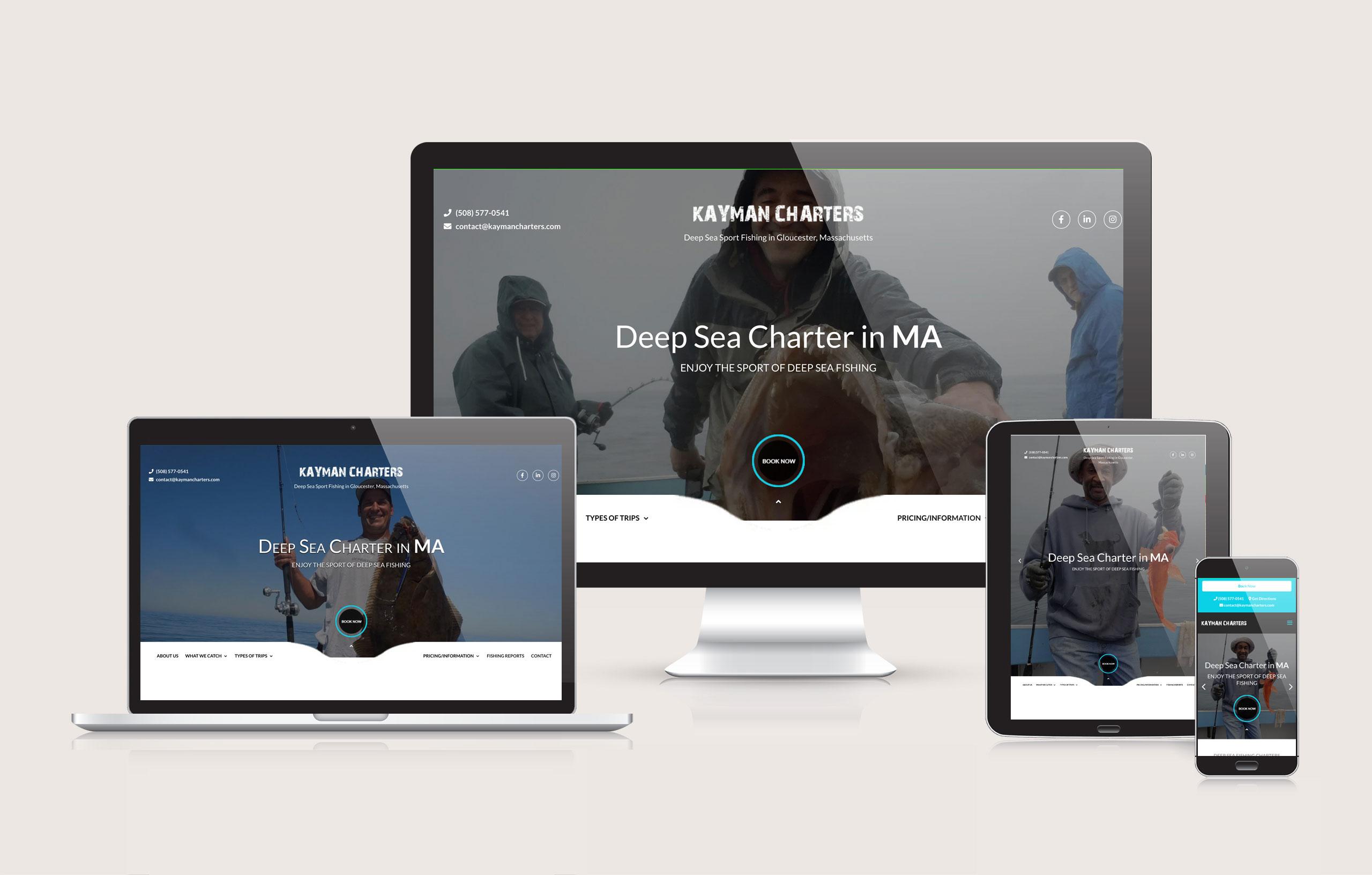 Kayman Charters - Website Layout by Ok Omni