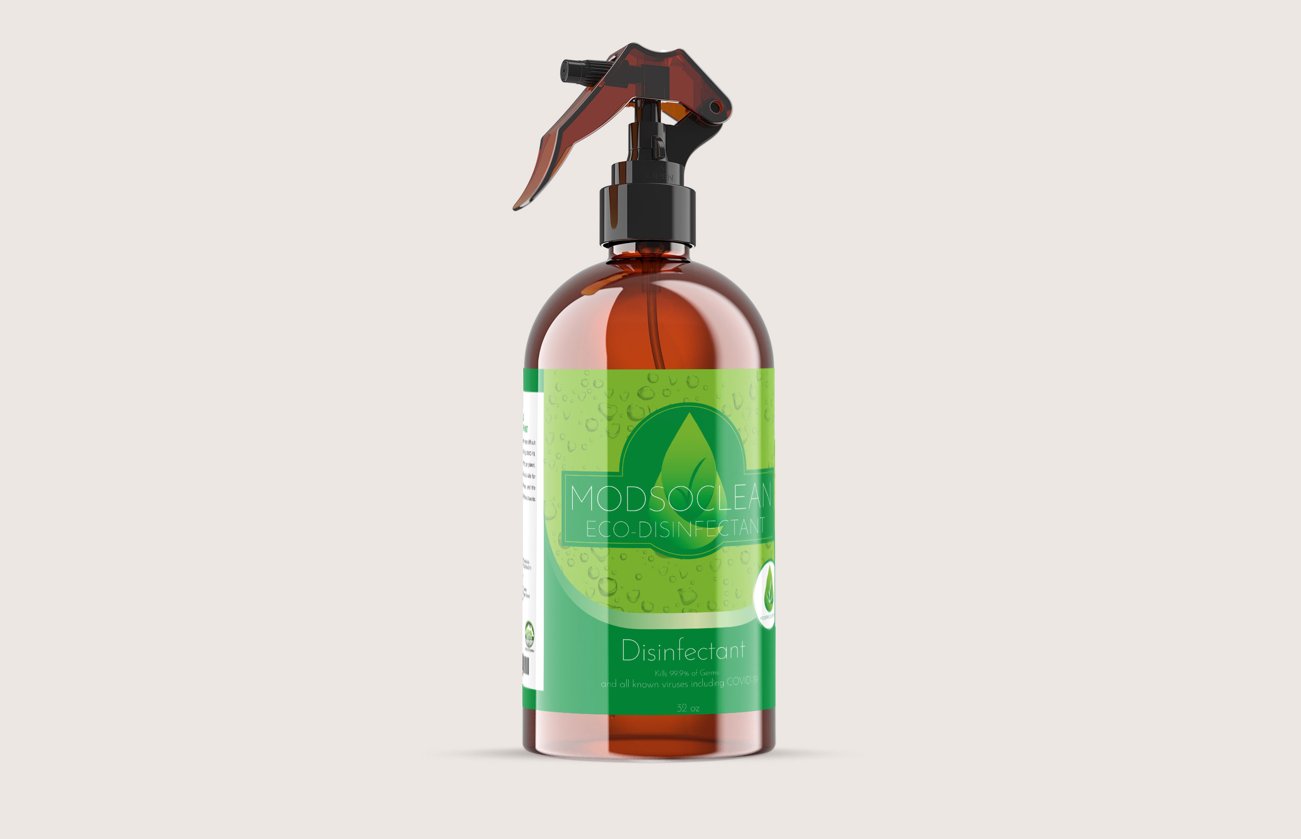 ModsoClean - Eco Disinfectant Spray - Product Label Design
