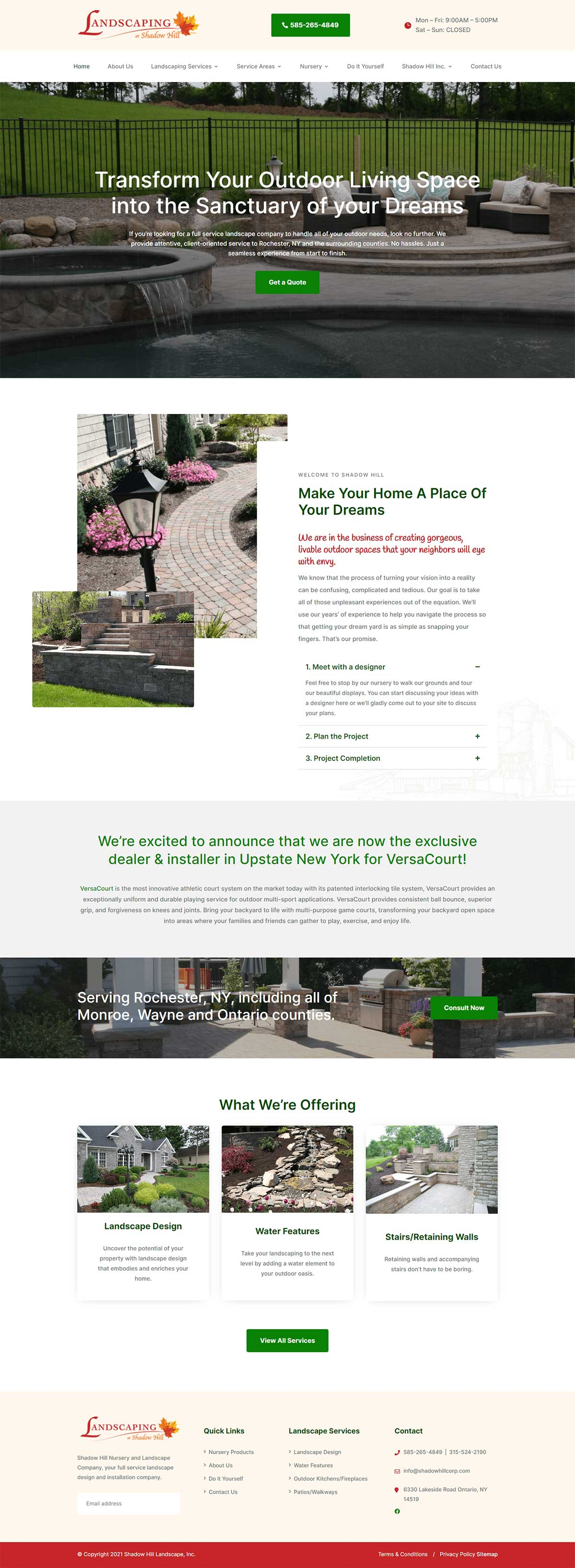 Shadowhill Landscape - Full Website Homepage by Ok Omni